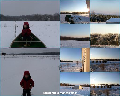 Snow and a Redneck Sle