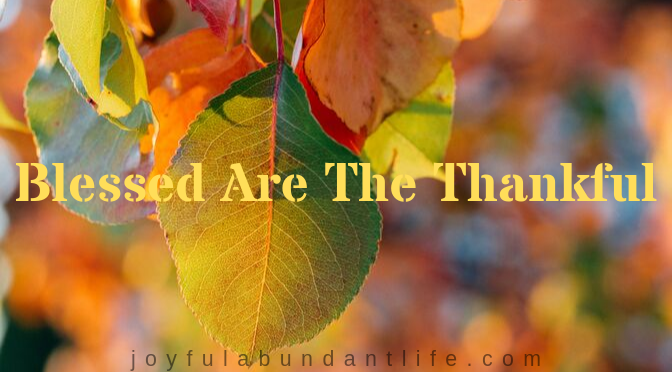 Blessed Are TheThankful Free Printable Thanksgiving Game