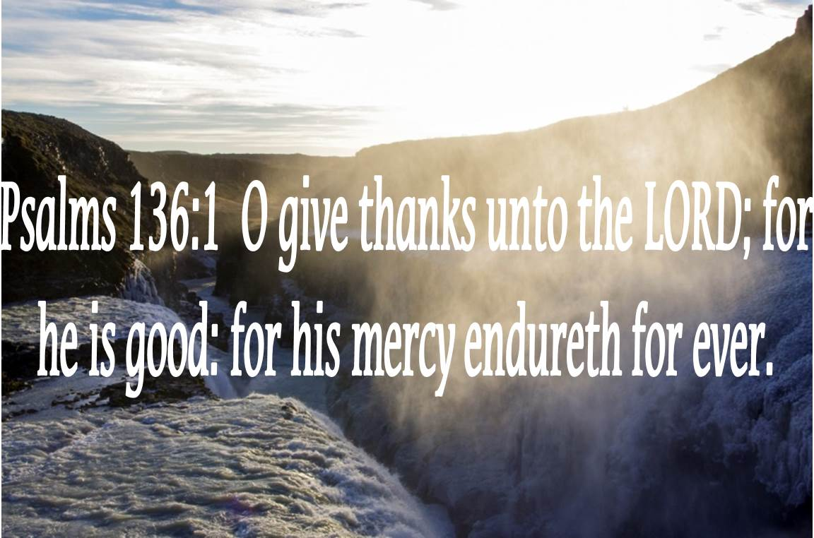 1God's Great Mercy should bring our thanks!