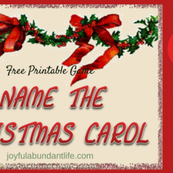 Name the Christmas Carol Free Printable for your personal use