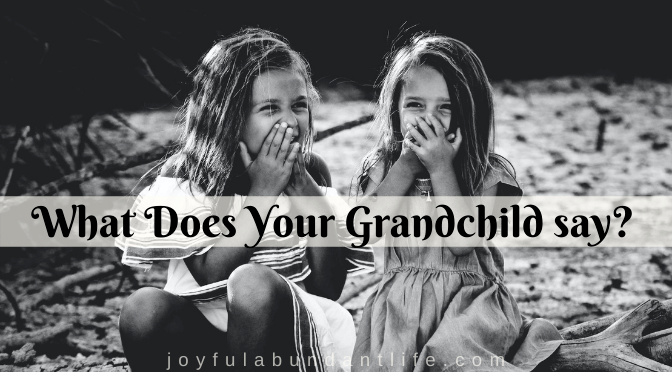 Kids say the funniest things. What do your grandkids say?