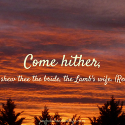 Come Hither I will show thee the lamb's wife
