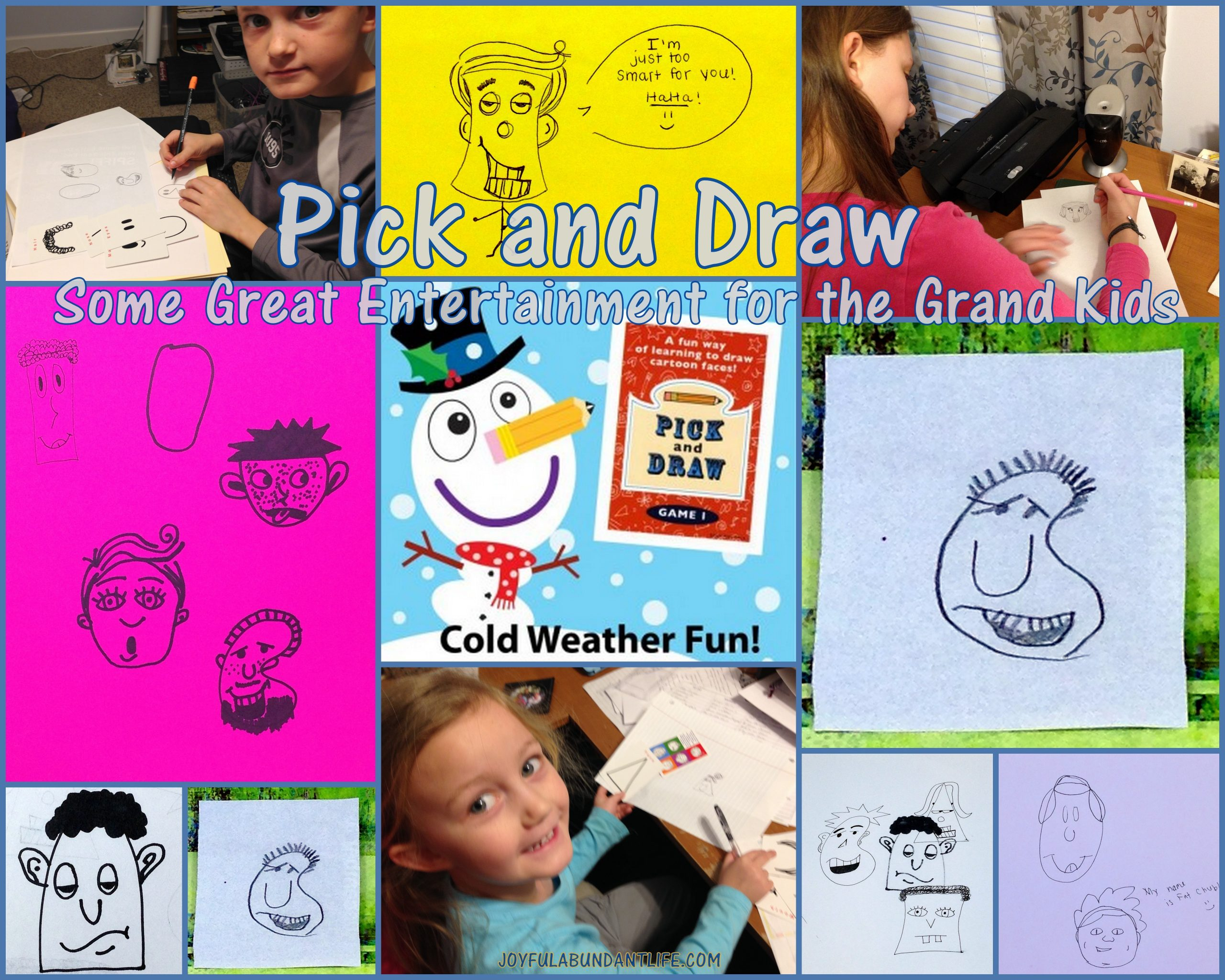 Have you tried this fun and creative game, Pick and Draw! Great entertainment for kids and grandkids