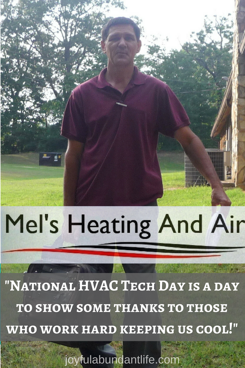 Tribute to the best HVAC tech I know on National HVAC Tech Day.