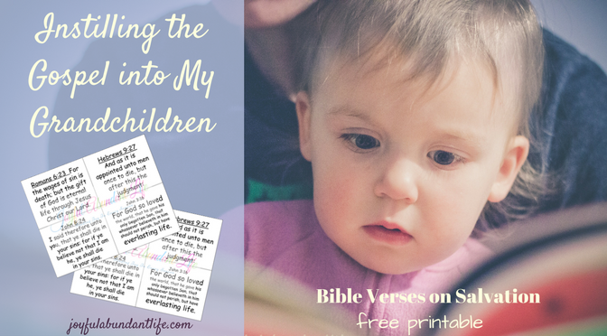 Bible Verses for Children on Salvation - free printable, coloring and fill in blank