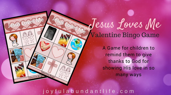 Free Valentine Bingo Game for Kids