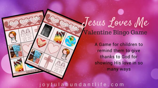 Free Valentine Bingo Game for Kids