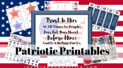 Patriotic Printables for any patriotic holiday. 4th of July, Memorial Day