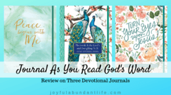 Journal as You Read God's Word