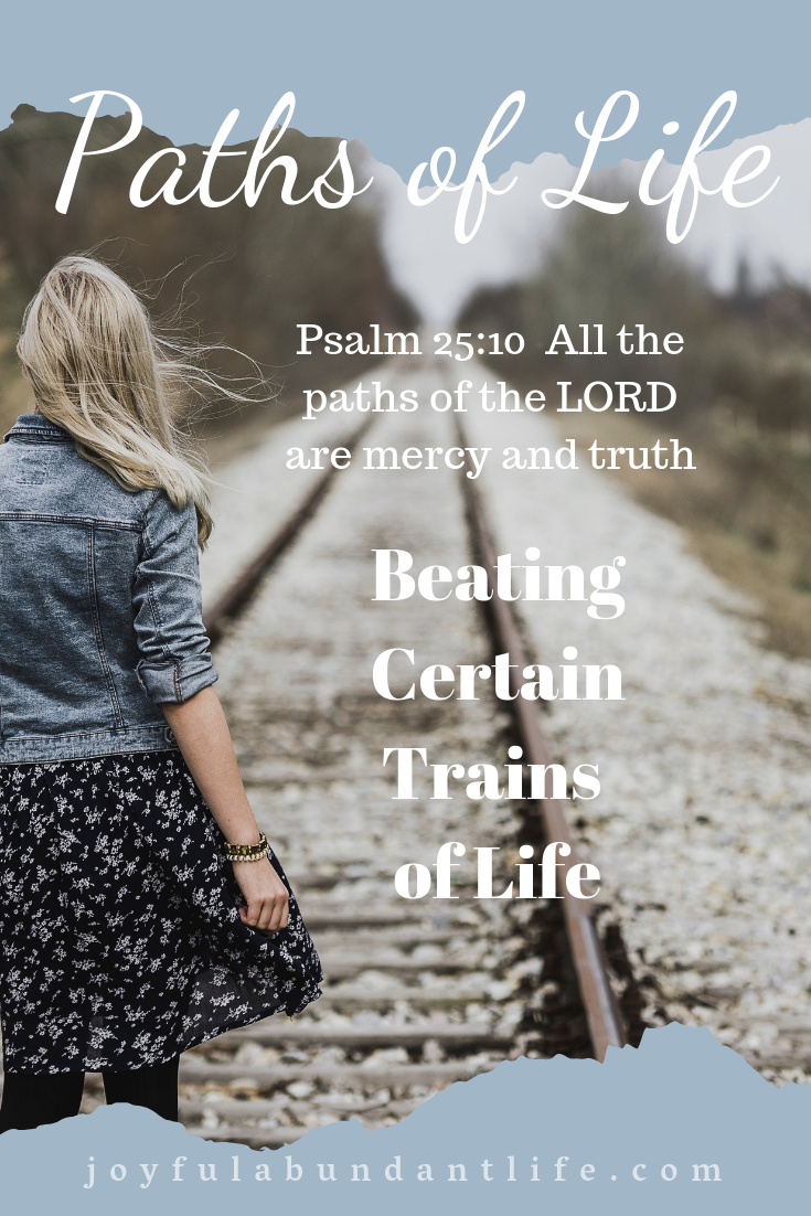 There are trains in life that come along our paths of life and we ought not to let them over take us.  We often need to run in order to avoid certain dangers and obstacles that may hinder our Christian life.