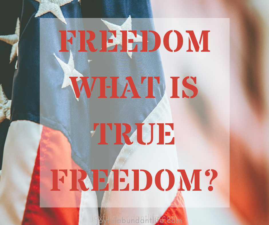 Are you free in Christ? You can have true freedom.